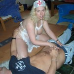 Barby plays Dr's & Nurses & gets a face full of spunk