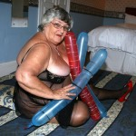 Grandma Libby having some erotic fun with balloons