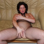Mature brunette wife spreading her pussy