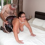 MILF lets neighbor fuck her doggy style