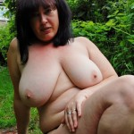 Naked pussy play outdoors