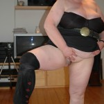 BBW slut in black tights