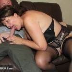 Busty Amateur MILF sofa fuck