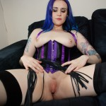Mistress Venemous Velocet gets her whip out